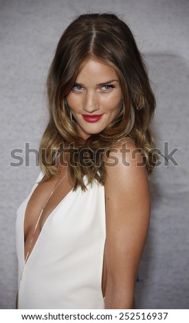 "HOLLYWOOD, CALIFORNIA - Sunday June 6, 2011. Rosie Huntington-Whiteley at the Spike TV's 5th Annual 2011 ""Guys Choice"" Awards held at the Sony Pictures Studios, Los Angeles.  - stock photo"