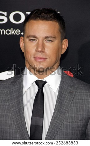 "HOLLYWOOD, CALIFORNIA - Tuesday March 13, 2012. Channing Tatum at the Los Angeles premiere of ""21 Jump Street"" held at the Grauman's Chinese Theater, Los Angeles. - stock photo"