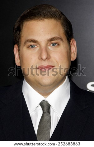 "HOLLYWOOD, CALIFORNIA - Tuesday March 13, 2012. Jonah Hill at the Los Angeles premiere of ""21 Jump Street"" held at the Grauman's Chinese Theater, Los Angeles.  - stock photo"