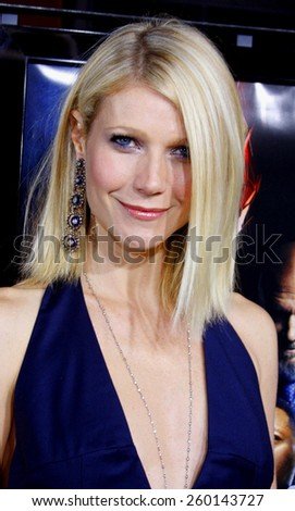 "HOLLYWOOD, CALIFORNIA. Wednesday April 30, 2008. Gwyneth Paltrow attends the Los Angeles Premiere of ""Iron Man"" held at the Grauman's Chinese Theater in Hollywood, California United States. - stock photo"