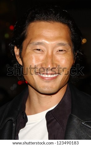 "HOLLYWOOD - DECEMBER 06: Daniel Dae Kim at the premiere of ""Blood Diamond"" Grauman's Chinese Theatre December 06, 2006 Hollywood, CA. - stock photo"