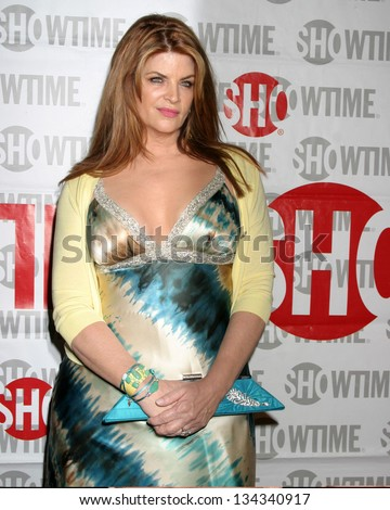 "HOLLYWOOD - FEBRUARY 23: Kirstie Alley at the screening of Showtime's new series ""Fat Actress"" at Cinerama Dome on on February 23, 2005 in Hollywood, CA - stock photo"