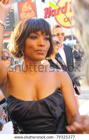 HOLLYWOOD - JUNE 15: Actor Angela Bassett at  the premiere of the movie the Green Lantern June 15, 2011 Hollywood, CA. - stock photo