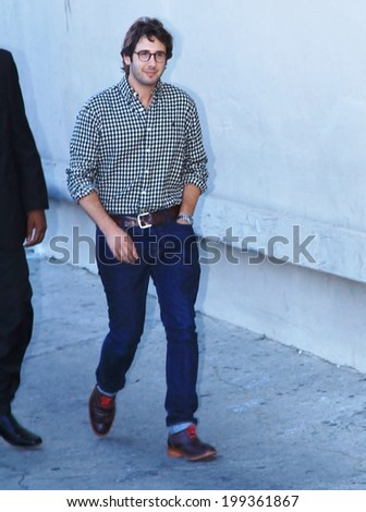 HOLLYWOOD - JUNE 17,  2014: Josh Groban is outside the Jimmy Kimmel studio June 17, 2014 Hollywood, CA. - stock photo