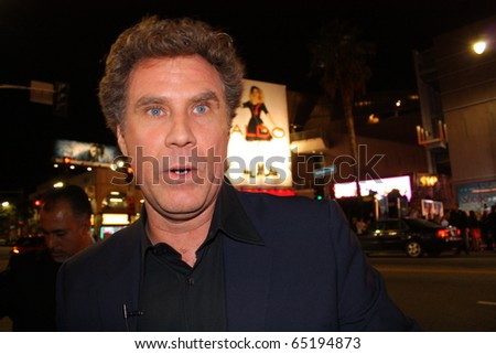 HOLLYWOOD - NOVEMBER 15: Comedian Will Ferrell at the premiere of the movie Burlesque at Grauman's Chinese Theatre November 15, 2010 Hollywood, CA. - stock photo