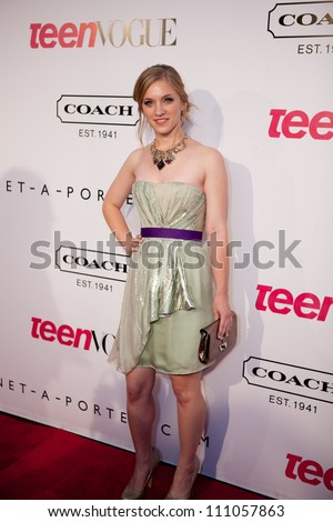 "HOLLYWOOD - SEPT 23: Amanda Bauer attends the 9th Annual Teen Vogue ""Young Hollywood"" Party Sponsored by Coach, September 23, 2011 in Hollywood, CA - stock photo"