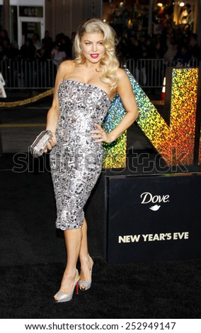 "HOLLYWOOD, USA - DECEMBER 5: Stacey 'Fergie' Ferguson at the Los Angeles Premiere of ""New Year's Eve"" held at the Grauman's Chinese Theatre in Los Angeles, USA on December 5, 2011. - stock photo"