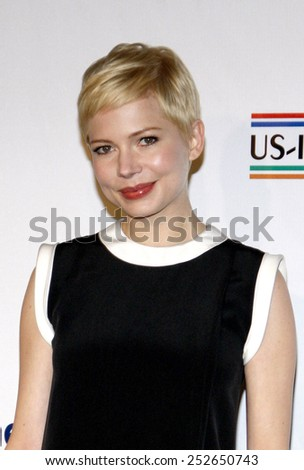 """HOLLYWOOD, USA - FEBRUARY 23: Michelle Williams at the 7th Annual """"Oscar Wilde: Honoring The Irish In Film"""" Pre-Academy Awards Event held at the Bad Robot in Los Angeles, USA on February 23, 2012. - stock photo"""