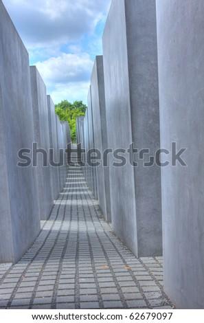 Holocaust Memorial Berlin - stock photo