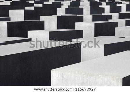 Holocaust memorial in Berlin, Germany - stock photo