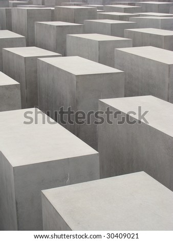 Holocaust Memorial monument in Berlin, Germany - stock photo