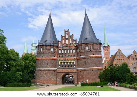 Holsten Gate - Lübeck, Germany - stock photo