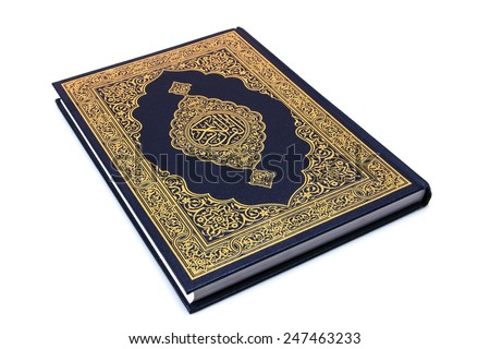 """Holy Book """"Qur'an"""" Isolated - stock photo"""