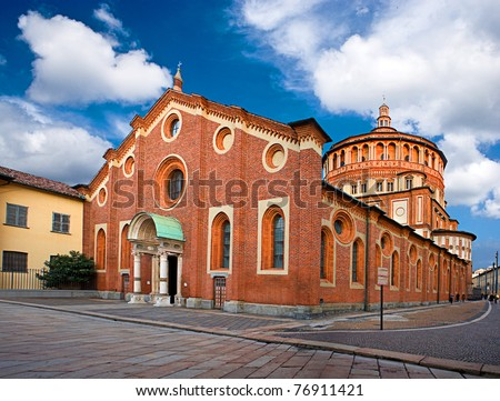 Holy Mary of Grace in Milan - stock photo