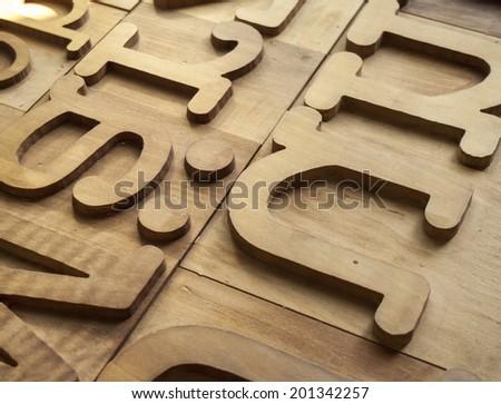 Holzbuchstaben - stock photo