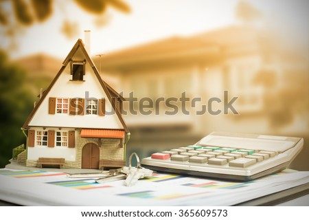 Home and Money for your good real estate - stock photo