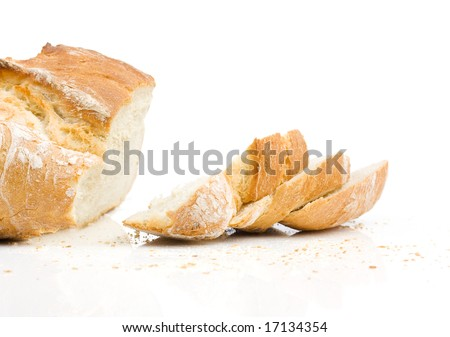 home baked bread - stock photo