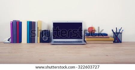 Home desk hero header image - stock photo