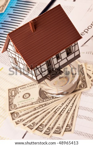 home expenses, costs and calculations - stock photo