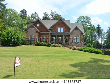 Home for sale at Georgia, USA. - stock photo