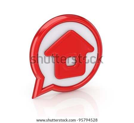 Home Icon.Isolated on white background.3d rendered. - stock photo