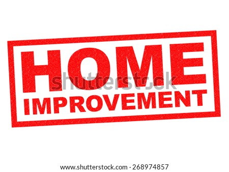 HOME IMPROVEMENT red Rubber Stamp over a white background. - stock photo
