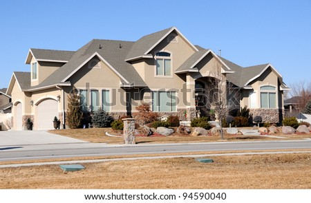 Home in the Suburbs - stock photo
