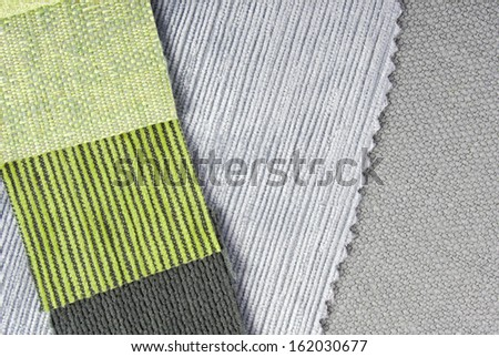home interior design upholstery coice - stock photo