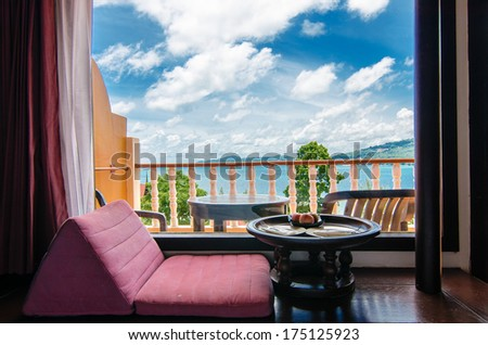 Home interior - Rest Corner for vacation in home. Interior living room in home. Vacation concept - stock photo