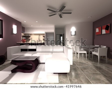 Home Interior Scene - stock photo