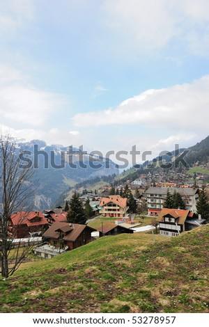 home, ,interlaken, Switzerland - stock photo