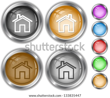 Home. Internet buttons. - stock photo