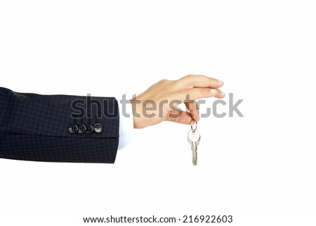 Home Key with hand - stock photo