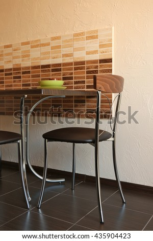 Home kitchen interior - stock photo