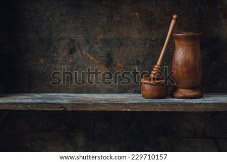 Home kitchen still life - stock photo