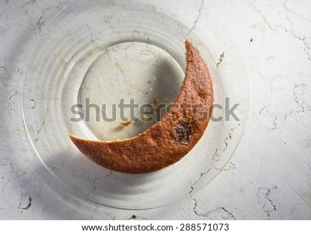 Home made banana cake. Ramadan special recipe. - stock photo
