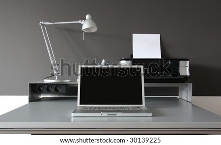 Home office desk - stock photo