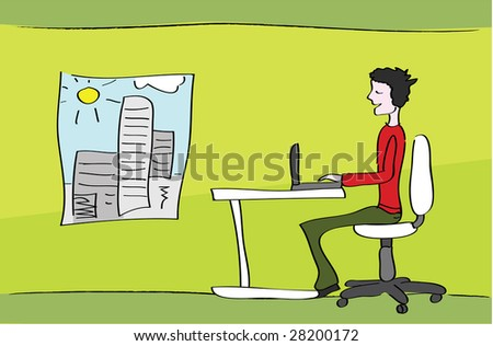 Home office - jpeg version. - stock photo