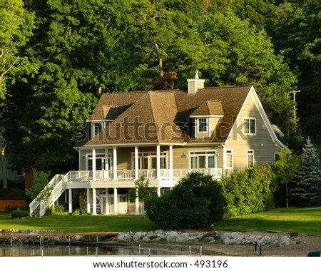 Home on Glen Lake - stock photo