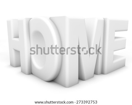 Home - over white Background - stock photo