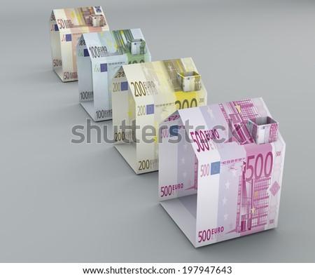 Home property mortgage expense imu tasi tari sale  - stock photo