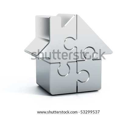 Home puzzle - stock photo