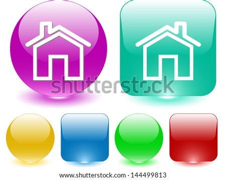 Home. Raster interface element. - stock photo