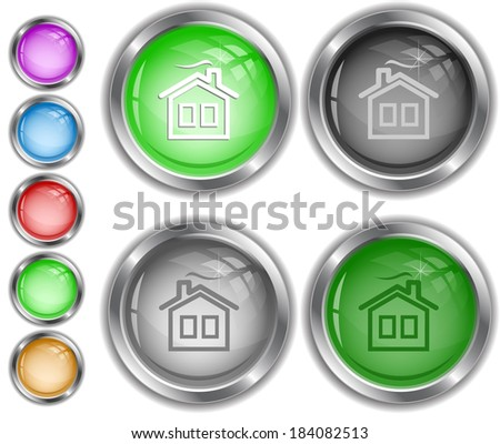 Home. Raster internet buttons.  - stock photo