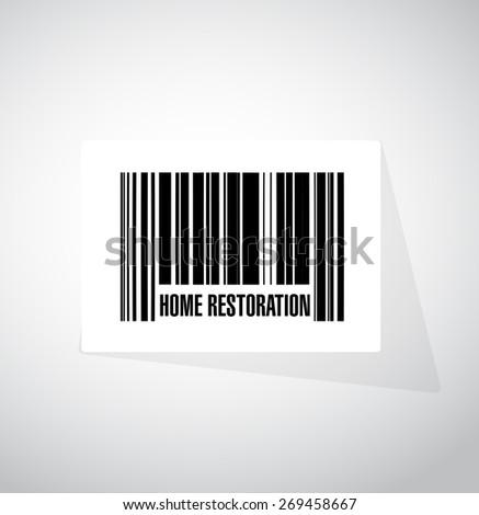home restoration upc code sign illustration design over white - stock photo