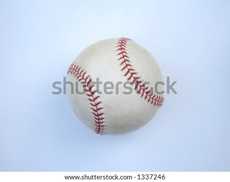 Home Run ball retrieved on Waveland Ave outside Wrigley Field, Chicago with - stock photo