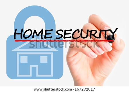 Home security issue - stock photo