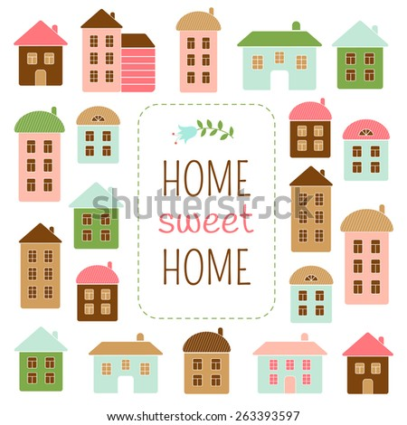 Home sweet home vector illustration - stock photo