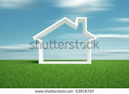 Home symbol - this is a 3d render illustration - stock photo