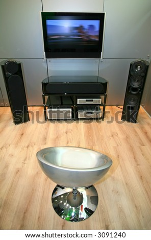 home theater 3 - stock photo